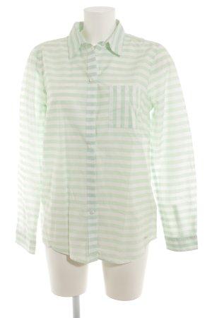 Tom Tailor Hemd-Bluse hellgrün-weiß Streifenmuster Elegant