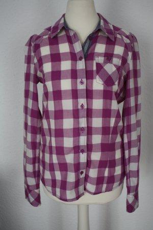 Tom Tailor Denim Chemise à manches longues rose-blanc cassé coton