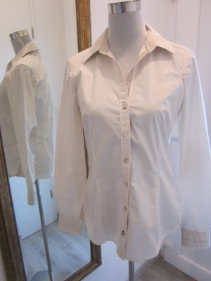 Tom Tailor Hemd Bluse weiss beige Gr 38