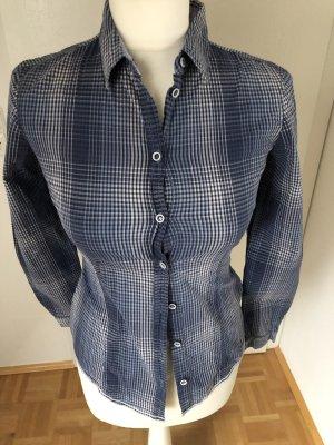 Tom Tailor Hemd Gr. 34, blau/weiß