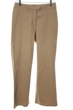 Tom Tailor Pantalon taille haute brun style décontracté