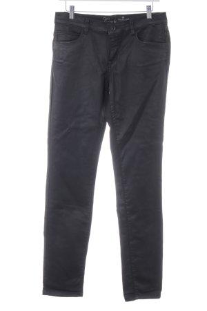 Tom Tailor High-Waist Hose schwarz Glanz-Optik
