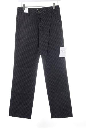 Tom Tailor Pantalón de cintura alta negro-blanco raya diplomática elegante