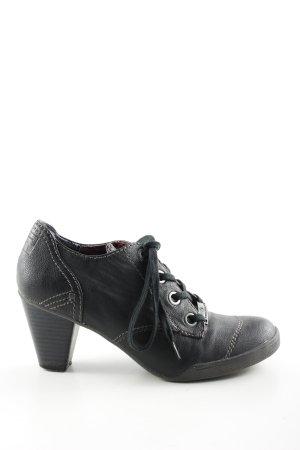 Tom Tailor Chaussure à talons carrés noir style décontracté