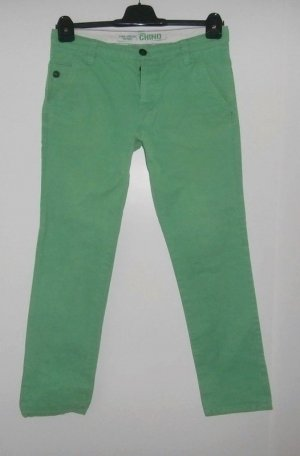 Tom Tailor Low-Rise Trousers lime-green cotton