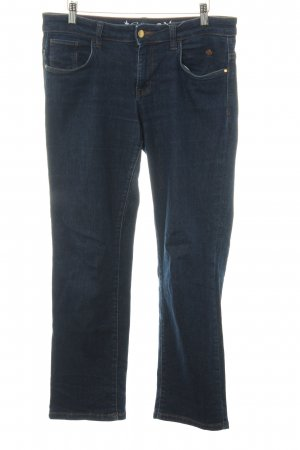 Tom Tailor Pantalone a vita bassa blu scuro stile casual