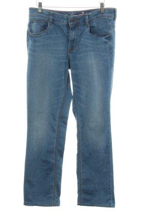 Tom Tailor Pantalon taille basse bleu acier-bleuet style décontracté