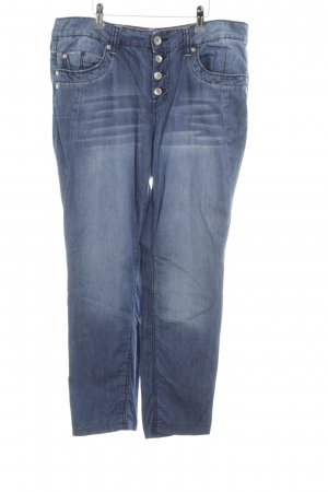 Tom Tailor Low Rise jeans neon blauw casual uitstraling
