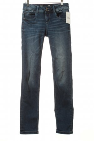 Tom Tailor Jeans blau-wollweiß Washed-Optik