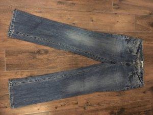 Tom Tailor Boot Cut Jeans neon blue cotton