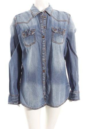 Tom Tailor Jeansbluse blau klassischer Stil