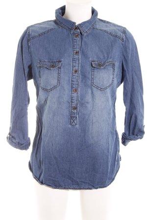 Tom Tailor Jeansbluse kornblumenblau Casual-Look