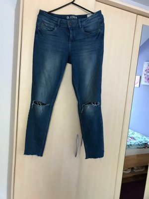 Tom Tailor Pantalón tobillero azul oscuro