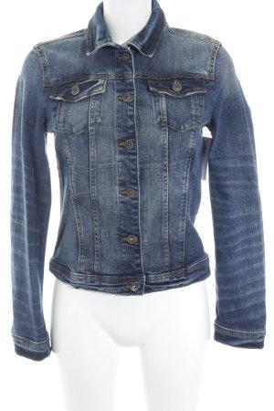Tom Tailor Veste en jean bleu foncé style décontracté