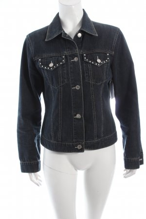 Tom Tailor Jeansjacke dunkelblau Street-Fashion-Look