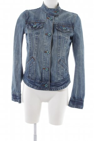 Tom Tailor Jeansjacke blau Street-Fashion-Look