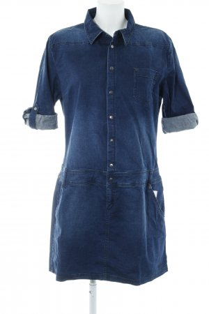 Tom Tailor Jeansjurk donkerblauw casual uitstraling