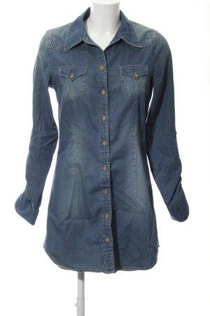 Tom Tailor Jeanskleid stahlblau Jeans-Optik