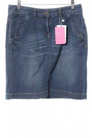 Tom Tailor Jeansrock blau Washed-Optik