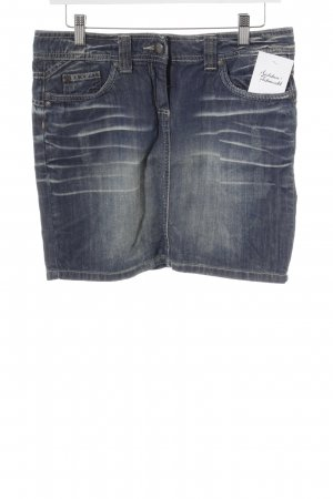 Tom Tailor Jeansrock dunkelblau-blassblau Webmuster Casual-Look
