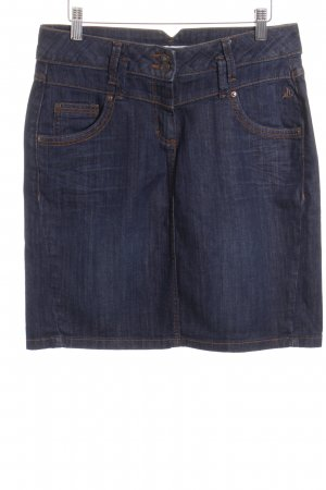 Tom Tailor Jeansrock dunkelblau-dunkelorange Casual-Look