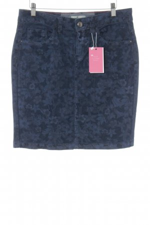 Tom Tailor Jeansrock dunkelblau florales Muster Casual-Look
