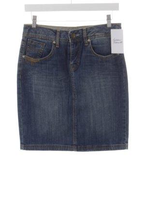 Tom Tailor Jeansrock dunkelblau-himmelblau Jeans-Optik