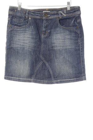 Tom Tailor Jeansrock dunkelblau-stahlblau Casual-Look