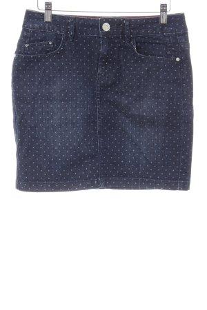 Tom Tailor Jeansrock blau Punktemuster Casual-Look