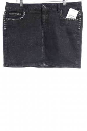 Tom Tailor Jeansrock schwarz Casual-Look
