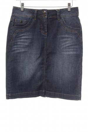 Tom Tailor Jeansrock stahlblau Washed-Optik