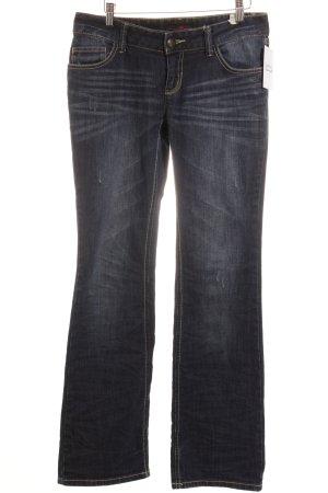 Tom Tailor Jeansschlaghose dunkelblau Casual-Look