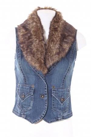 Tom Tailor Denim Vest multicolored washed look