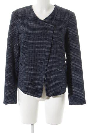 Tom Tailor Jersey Blazer azul oscuro-blanco estampado a lunares look casual