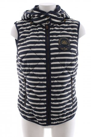 Tom Tailor Hooded Vest blue-natural white quilting pattern casual look