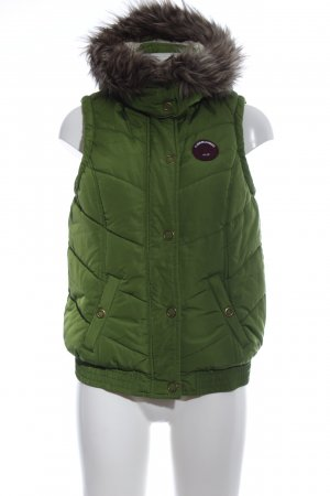 Tom Tailor Hooded Vest green quilting pattern casual look