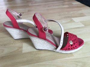Tom Tailor Platform High-Heeled Sandal dark red