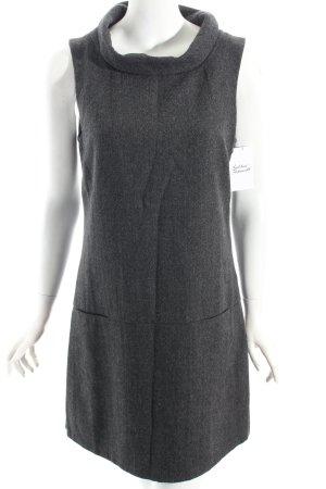 Tom Tailor Kleid anthrazit-schwarz Fischgrätmuster minimalistischer Stil