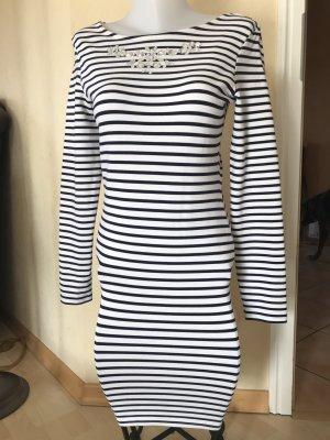 Tom Tailor Kleid Gr M gestreift blau Weiß