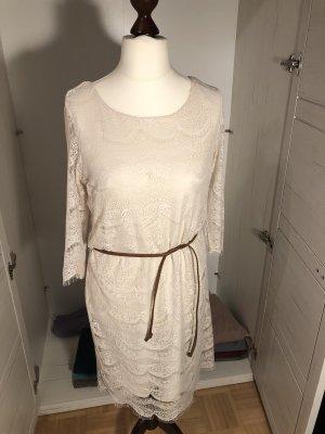 Tom Tailor Kleid in Häkeloptik/Spitze in Gr. 38 creme beige wie neu