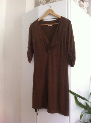 Tom Tailor Kleid in Nude/Braun Gr. S