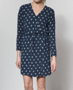 Tom Tailor Kleid Wrap Wickelkleid Punkte Dress