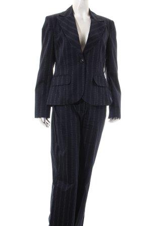 Tom Tailor Kostüm dunkelblau-weiß Streifenmuster Elegant