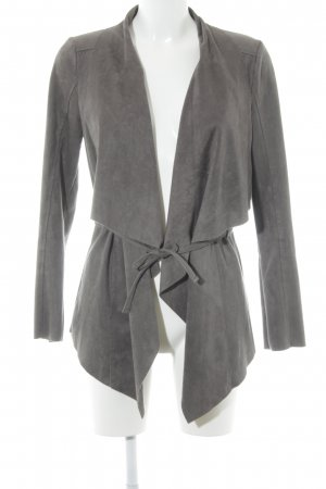 Tom Tailor Kunstlederjacke grau Casual-Look
