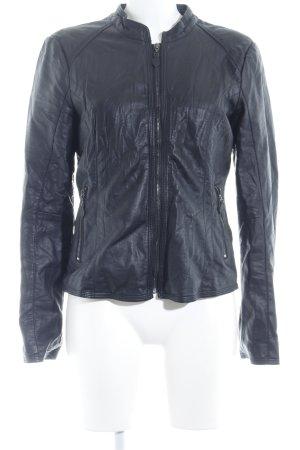 Tom Tailor Veste en cuir synthétique noir Look de motard
