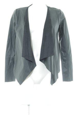 Tom Tailor Veste en cuir synthétique noir style décontracté