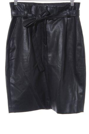 Tom Tailor Jupe en cuir synthétique noir style classique