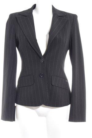 Tom Tailor Kurz-Blazer schwarz-grau Nadelstreifen Business-Look