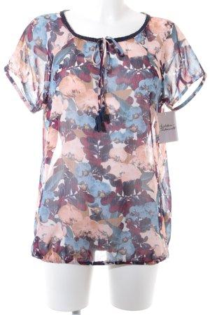 Tom Tailor Kurzarm-Bluse florales Muster klassischer Stil