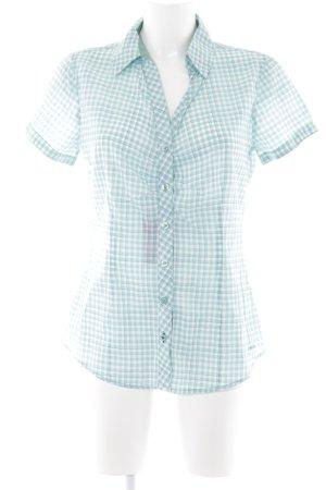 Tom Tailor Kurzarmhemd türkis-weiß Karomuster Casual-Look